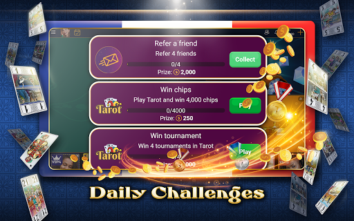 VIP Tarot - Free French Tarot Online Card Game 3.7.4.26 screenshots 20