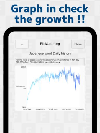 Japanese Flick Typing practice app 1.136.0 screenshots 20