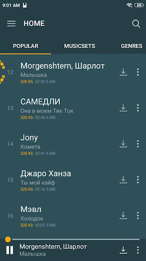 Zaycev.Net - music and songs in mp3 no Internet 7.6.4 Screenshots 1