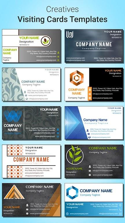 Business Card Maker  poster 5