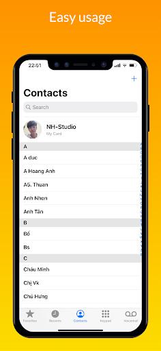 iCall – iOS Dialer, iPhone Call screen 0