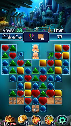 Jewel ocean world: Match-3 puzzle Apkfinish screenshots 5