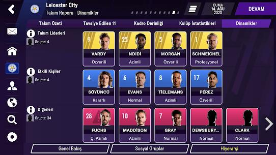 Football Manager 2021 Mobile Hile v12.1.0 Kilitler Açık Apk indir 4