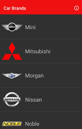 Car Brands Screenshot 1