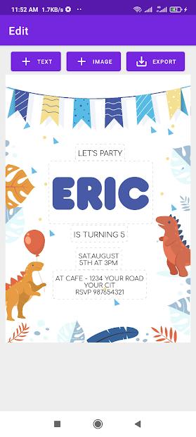 Invitation Card Maker screenshot 2
