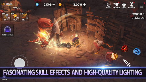 Dungeon Knight: 3D Idle RPG android2mod screenshots 3