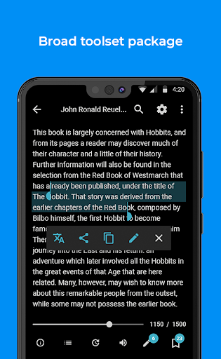FullReader - reader for fb2, pdf, djvu, txt, epub  Screenshots 2