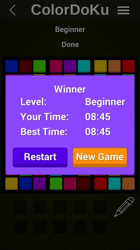 colordoku - color sudoku screenshot 2
