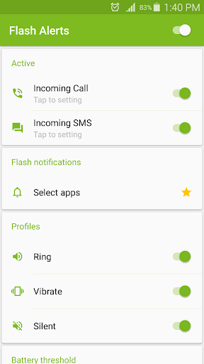 Download APK: Flash Alerts on Call and SMS v4.05 [Vip]