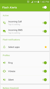 Flash Alerts on Call and SMS (PREMIUM) 3.96 Apk 2