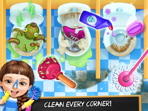 Sweet Baby Girl Cleanup 6 - School Cleaning Game  screenshots 12