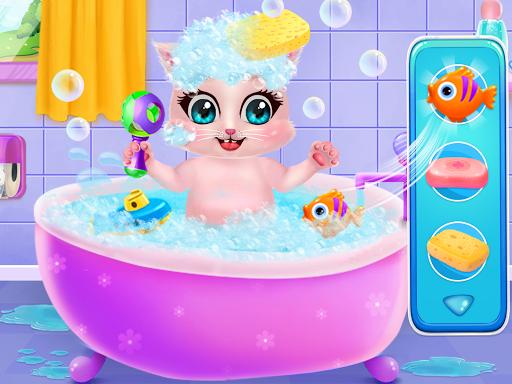 Kitty Care Twin Baby Game  screenshots 1
