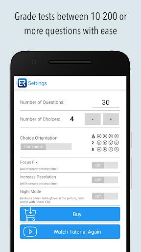 exam reader - optical test grade screenshot 3