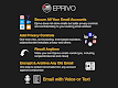screenshot of EPRIVO Private Email with Voice and Controls