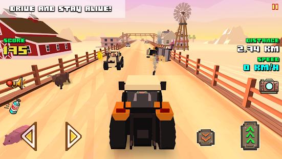 Blocky Farm Racing & Simulator - driving game  screenshots 2