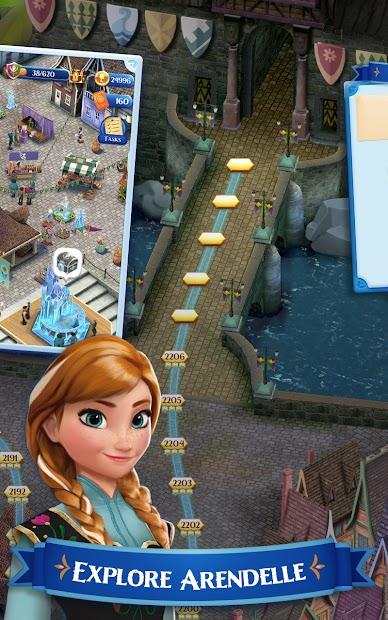 Disney Frozen Free Fall - Play Frozen Puzzle Games screenshot 3