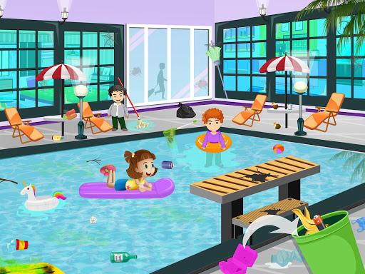 Pretend Play Hotel Cleaning: Doll House Fun 1.1.5 screenshots 3