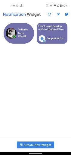 Notification Widget