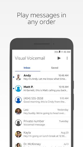 AT&T Visual Voicemail  screenshots 1