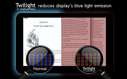 Twilight 🌅 Blue light filter for better sleep Screenshot