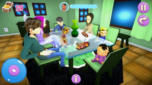 Real Mother Baby Games 3D: Virtual Family Sim 2019 apkmr screenshots 1