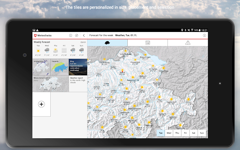 MeteoSwiss Screenshot