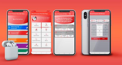 Blood pressure Tracker & bp diary  screenshots 1