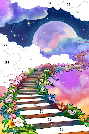 Bible Coloring - Paint by Number, Free Bible Games  screenshots 17