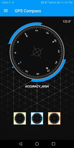 Compass Sensor for Android Digital Compass GPS 360 1.1.1 Screenshots 2