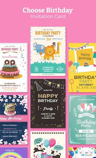 Birthday Invitation Maker : Invitation Card Maker 1.0.7 Screenshots 1