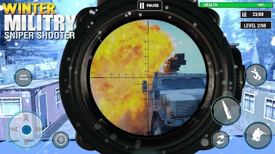 Winter Military Sniper Shooter: new game 2021 Hack for Android and iOS 3