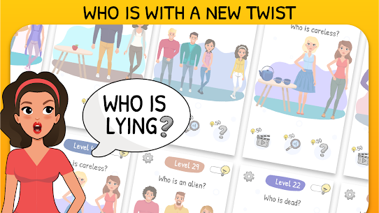 Who is? 2 MOD APK Tricky Chats and Brain (UNLIMITED BULB) 6