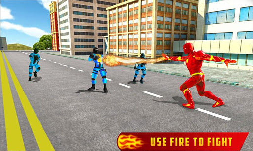 Flying Fire Hero Robot Transform: Robot Games  Screenshots 4