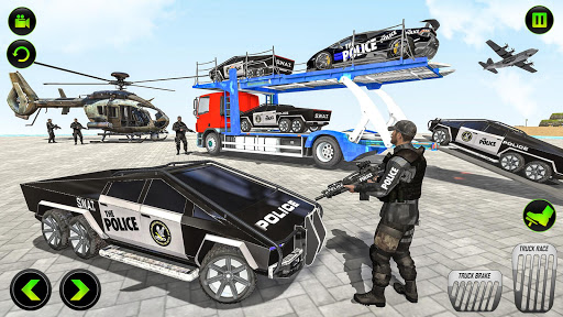 US Police CyberTruck Car Transporter: Cruise Ship 1.1.1 Screenshots 5