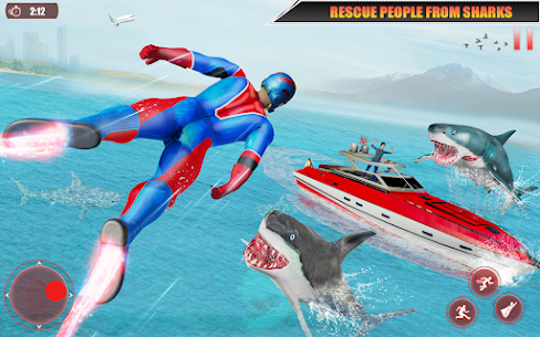 Flying Robot Superhero: Rescue City Survival Games 9