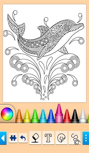 Dolphin and fish coloring book 16.3.2 screenshots 11
