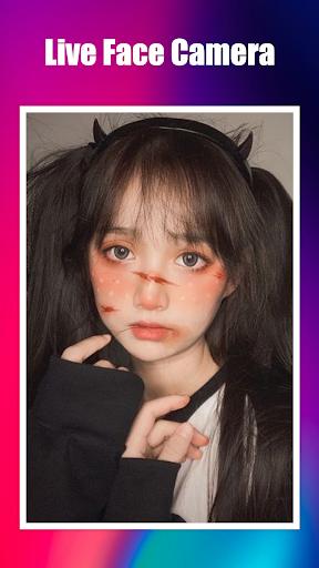 Live Face Camera Free Cute s Funny Motion Sticker 1.0.0 Screenshots 5