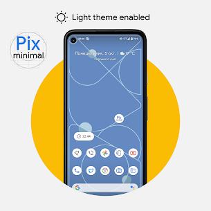 Pix – Minimal Black/White Icon Pack 4.0 Apk 1