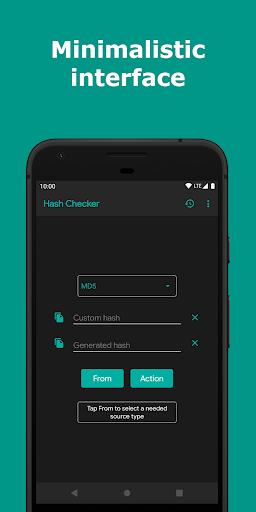 hash checker: md5, sha-1/224/256/384/512, crc-32 screenshot 1