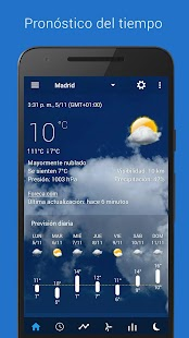 Reloj y clima transparente Screenshot