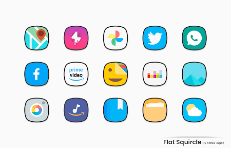 Flat Squircle Apk- Icon Pack (Paid) Download 2