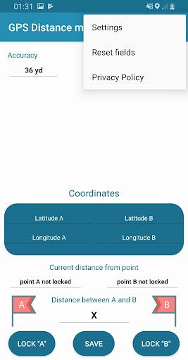gps distance meter pro screenshot 2