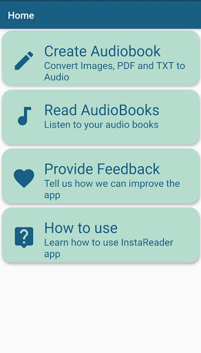 InstaReader : AudioBooks, OCR, Text To Speech 1.0.2 screenshots 1