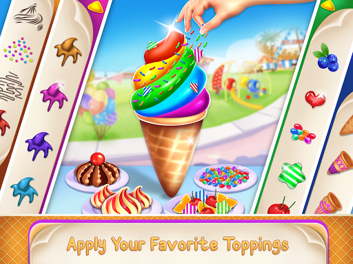 Icecream Cone Cupcake Baking Maker Chef apktram screenshots 6