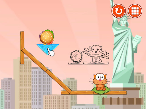 Hungry cat: physics puzzle game apkdebit screenshots 6