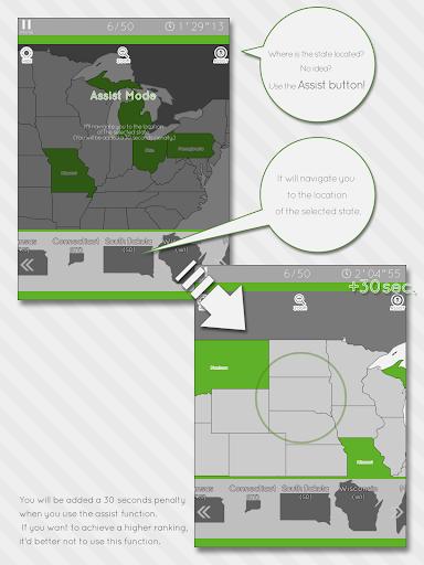 Enjoy Learning U.S. Map Puzzle 3.2.3 screenshots 8