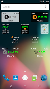 Bitcoin Ticker Widget Screenshot