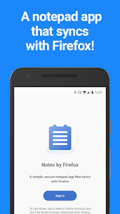 Notes by Firefox: A Secure Notepad App Screenshot