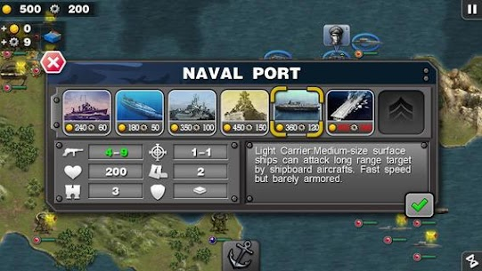 Glory of Generals : Pacific – World War 2 Mod Apk 1.3.12 (Unlimited Medals) 2