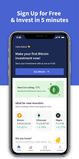 CoinDCX Go: Bitcoin, cryptocurrency investment app screenshots 3